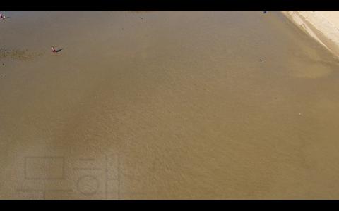드론으로 본 무창포 해수욕장 풍광